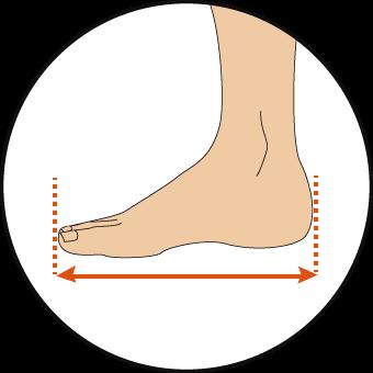 足首の測り方