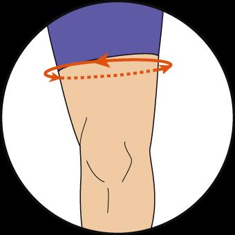 太腿の測り方