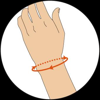 手首の測り方